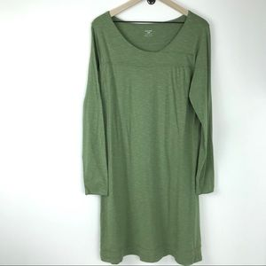 Horny Toad Oolong dress women's large green